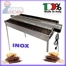 TECNOROAST KEBAB BARBECUE CHARCOAL GRILL +ELECTRIC KIT FOR 40+40 SKEWERS ROLLERS
