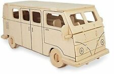 CAMPER Van Woodcraft Construction Kit-CAR 3d in Legno Modello Puzzle Bambini/Adulti