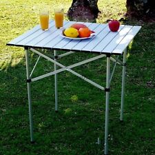 Folding Roll Up Square Table Table Desk for Outdoor Camping Picnic BTL8
