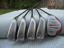 TOP FLITE XL GOLF IRONS 6-9 + #5 HYBRID DRIVER / XL STEEL SHAFT / RH