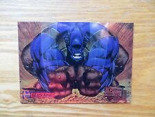 95' TOP COW CYBER FORCE CHROMIUM BLACK ANVIL CARD SIGNED BRANDON PETERSON,POA