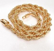 "24"" 61cm  Men Chunky Heavy Big Chain 155g 18K Yellow Gold Plated Twisted Rope"