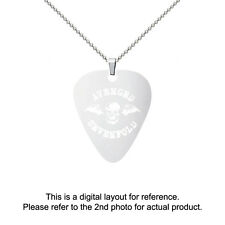 Avenged Sevenfold Stainless Steel Guitar Pick Shape Charm Necklace