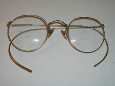 45[]22mm VINTAGE BAUSCH & LOMB 1/10 12K GF ROUND EYEGLASS/SUNGLASSES FRAMES ONLY