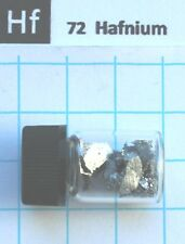 5 gram 99.2% Hafnium Metal Pieces  in glass vial - Element 72 sample