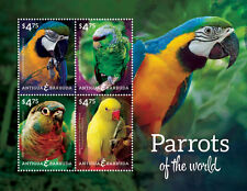 Antigua & Barbuda - Parrots of the World, 2014 - 1406 Sheetlet of 4 MNH
