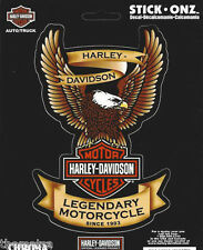 HARLEY DAVIDSON LEGENDARY MOTORCYCLES SINCE 1903 GOLD EAGLE  STICKER DECAL