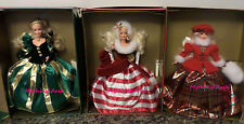 Lot of Winter Princess Barbie Dolls  Peppermint Evergreen Jewel  NRFB