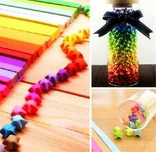 FD3880 Funny Origami Lucky Star Paper Strips Folding Paper Ribbons Colors 80pcs♫