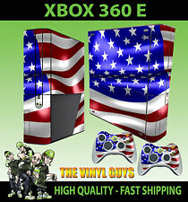 Xbox 360 E Usa Bandera Americana Stars And Stripes Sticker Skin & 2 X Pad Skins