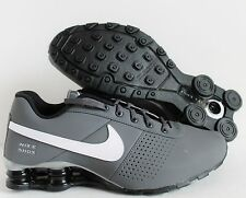 NIKE SHOX DELIVER PNT (GS) DARK GREY-WHITE SZ 7Y-WOMENS SZ 8.5 [615981-022]