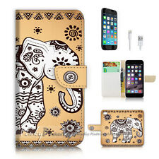 iPhone 7 (4.7') Flip Wallet Case Cover P2554 India Elephant