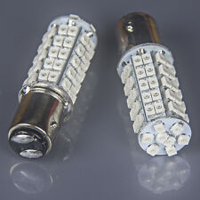 2 X Super Red BAY15D 1157 68-SMD Tail Stop Brake Light LED Bulbs 7528 2357 2057