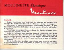 Cuisine ! Notice et recette de la moulinette électrique Moulinex !