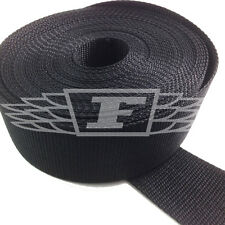 BLACK 50mm 2 INCH NYLON WEBBING x 10 METERS - BUY 2 GET ONE FREE