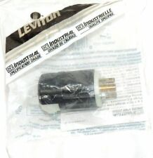 NEW LEVITON 165-00ML2-00P TWIST LOCK PLUG MIDGET 15A, 125V MALE, 16500ML200P