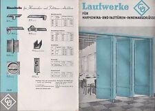 FEUERBACH, Prospekt 1935, Baubeschlag-Fabrik Gretsch-Unitas GmbH Laufwerke Türen