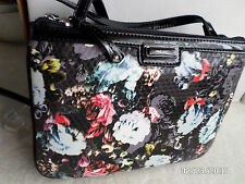 NINE WEST FLORAL BLACK HANDBAG PURSE NEW WITH TAGS