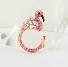 Kate Spade Bird is the Word Flamingo Ring Size 7 Crystal New