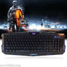 Sale! Three Adjustable Backlight Colors USB Wired Gaming Keyboard