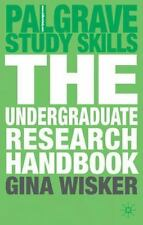 The Undergraduate Research Handbook (Palgrave Study Skills), Wisker, Gina, Good