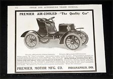1904 OLD MAGAZINE PRINT AD, PREMIER AIR-COOLED MOTOR CAR, RIDE LIKE A PULLMAN!