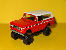 1979 INTERNATIONAL SCOUT LIFTED 4X4 RED 1/64 SCALE LIMITED EDITION REAL RUBBER P