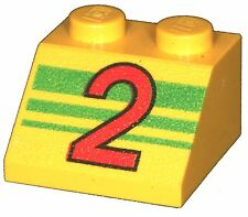 Missing Lego Brick 3039px54 Yellow Slope Brick 45 2 x 2 with Red Number 2 over G