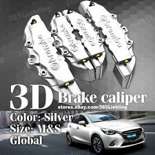 Silver 3D Brake Caliper Covers Universal Brembo Style Disc Front Rear Kits AA50