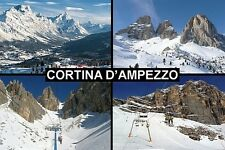 SOUVENIR FRIDGE MAGNET of CORTINA D'AMPEZZO ITALY SKIING