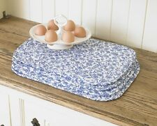 William Morris Merton Blue 4 Quilted Cotton Floral Placemats.