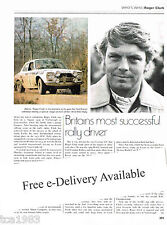 ROGER CLARK British Rally Champ Article / Photo / Picture
