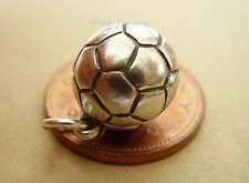 SUPERB OPENING FOOTBALL SOCCER BALL STERLING SILVER CHARM CHARMS