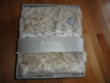 "Nicole Miller Faux Fur Throw Blanket Reversible 50"" x 60"" with Gift Box NWT"