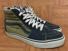 RARE�� VANS SK8-Hi Loomstate Washed Denim 9 Men's Fashion Sneakers Nature Calls