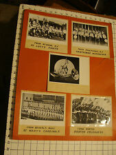 Vintage MARCHING BAND photos mounted on board #1
