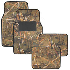 4 Piece Muddy Water Camouflage Floor Mats - Non-Slip Rubberized Backing -