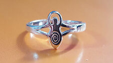 Moon Goddess TOE RING Sterling 925 Silver Adjustable Pagan Wiccan Bohemian   c5