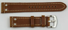 Genuine leather QUALITY THICK TOUGH watch strap band 18mm-24mm black tan brown