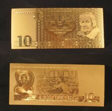GERMANY DDR BANKNOTE 10 ZEHN MARK 1971 GOLD REPLICA