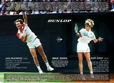 *DUNLOP MAX 200G* plasticized A3 retro poster about tennis racket