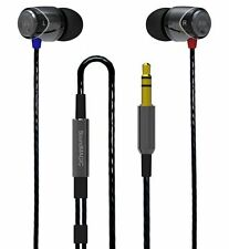 SoundMagic E10 In Ear Earphones in Black and Silver Headphones In-Ear Buds Canal