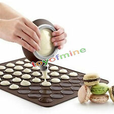 30-cavity Silicone Pastry Cake Macaron Macaroon Oven Baking Mould Sheet Mat