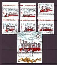 a106 - ROMANIA - SG6311-MS6317 MNH 2002 STEAM LOCOMOTIVES