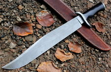 Damascus Knife Custom Handmade  - 19 Inches Micarta Handle Bowie Feather Pattern