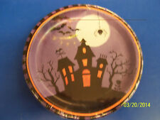 "Halloween Haunting Haunted House Full Moon Bats Party 7"" Paper Dessert Plates"
