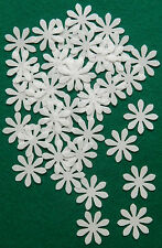 36 X WHITE FLOWERS EDIBLE WAFER PAPER CUP CAKE TOPPERS PARTY WEDDING DECORATIONS