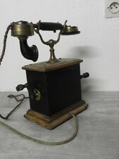 antique PHONE TELEPHONE ART DECO RETRO Crank wood vintage century