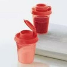 New Tupperware Mini Salt and Pepper Shakers Set