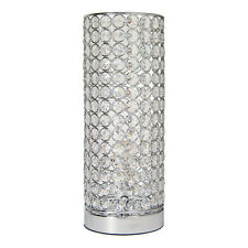 Vienna Crystal Table Lamp Modern Style Dining Bedroom Cylinder Light